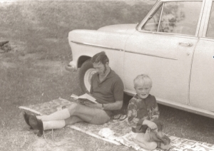 Dad, me and a Holden